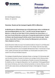 Vorschau: Scania auf der transport logistic 2013 in München