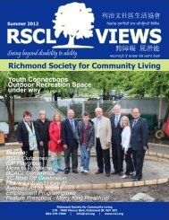 Summer 2012 - Richmond Society for Community Living