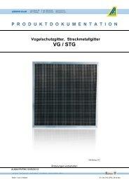Vogelschutzgitter, Streckmetallgitter VG / STG