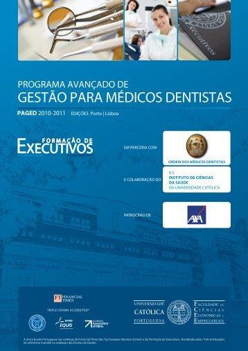 2.ª edição do Programa Avançado de Gestão para Médicos Dentistas