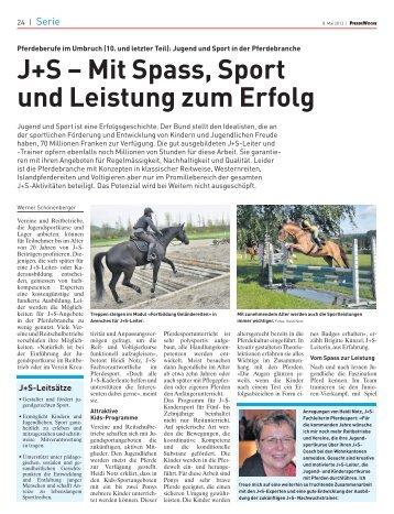 10. Teil: Jugend und Sport (J+S) - PferdeWoche