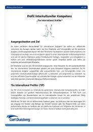 Profil Interkultureller Kompetenz - Carl Duisberg Centren