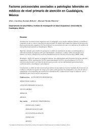 Factores psicosociales asociados a patologías laborales ... - SciELO