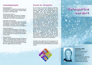 Grenzen der Osteopathie - Naturheilkunde, Osteopathie, Sport- und ...