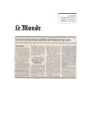 Presse quotidienne nationale - La Semaine du Son