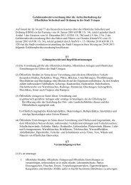 Gefahrenabwehrverordnung über die ... - Stadt Usingen