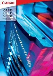 GP 285 GP 335 GP 405