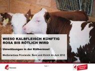 Präsentation Anlass Proviande - Schweizer Fleisch