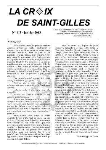 La Croix de Saint-Gilles n° 115 - La Porte Latine