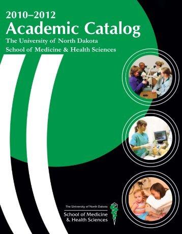 Academic Catalog - School of Medicine & Health Sciences ...