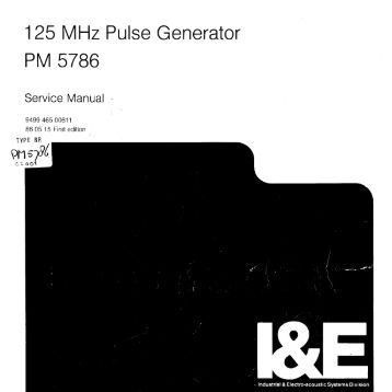 Philips PM5786 Service Manual