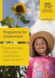 Programme for Government - Senedd.assemblywales.org - National ...