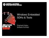 Windows Embedded SDKs & Tools - Motorola Solutions LaunchPad ...