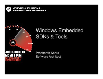 Windows Embedded SDKs & Tools - Motorola Solutions LaunchPad ...