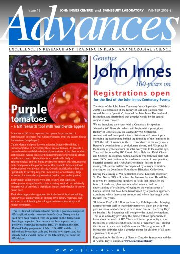 PDF version of Issue 12 - John Innes Centre