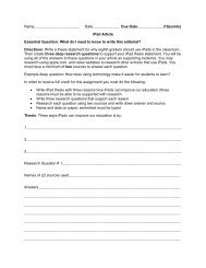 iPad Article Essential Question: What do I need to - Ramsey School ...