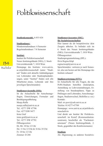 Politikwissenschaft - ÖH Uni Wien