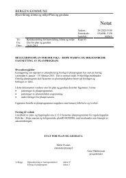 Notat om fastsetting av planprogram, datert ... - Bergen kommune