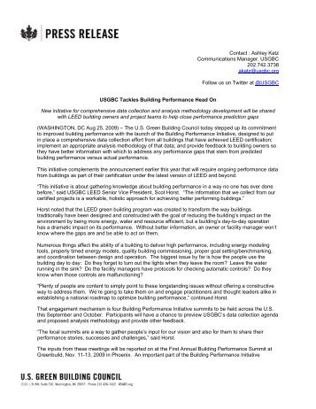 Building Performance Initiative - US Green Building Council