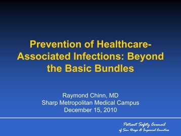 Prevention of Healthcare- Associated Infections: Beyond the Basic ...