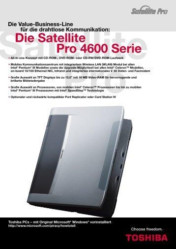Die Satellite Pro 4600 Serie - Toshiba