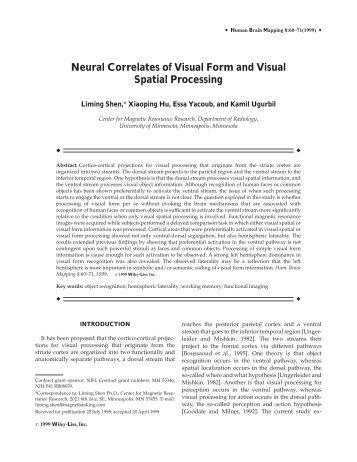 Neural correlates of visual form and visual ... - Purdue University
