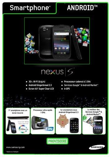 3G+, Wi-Fi (b/g/n) Processeur cadencé à 1 GHz Android ... - Prixtel