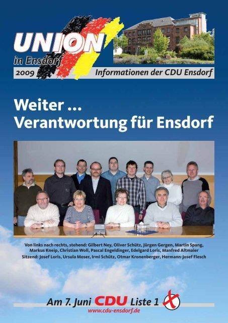 Die Mannschaft mit Sachverstand Liste 1 Am 7. Juni - CDU Saar