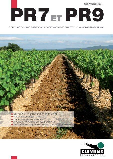 CLEMENS - Cultivateur PR7 et PR9 - Clemens Gmbh & Co. KG