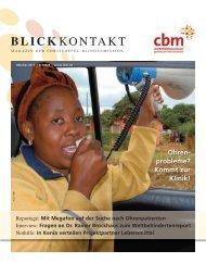 Blickkontakt 4-2011 - Christoffel-Blindenmission