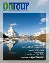 INFO - OnTour – Das Magazin für Reisen, Ferien und Freizeit