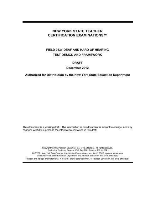 Deaf and Hard of Hearing - New York State Teacher