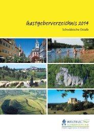 Gastgeberverzeichnis 2014 - Schwäbische Ostalb