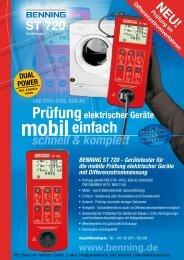 Produktinformationen BENNING Gerätetester ST 720 - PK Elektronik