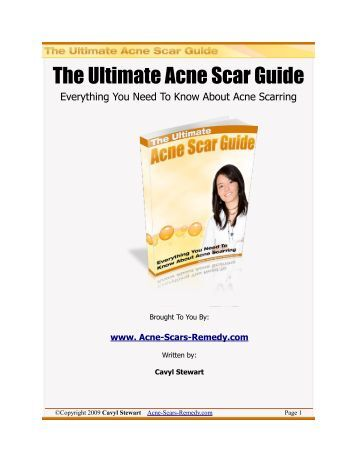 The Ultimate Acne Scar Guide - Acne Scars Remedy