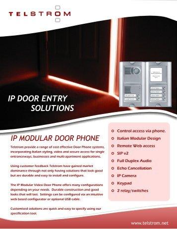 IP DOOR ENTRY SOLUTIONS - Hi-Tech Supplies