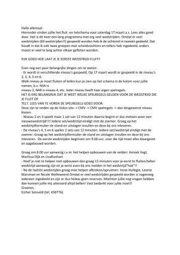 ZATERDAG 17 MAART 2012 - volco ommen