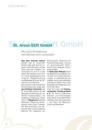 St. Anna-Stift Gmbh - Caritasverband Freiburg