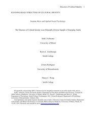running head: structure of cultural identity - Seth J. Schwartz, Ph.D.