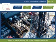Europa Oil & Gas One2One Investor Presentation 22nd May 2013 ...