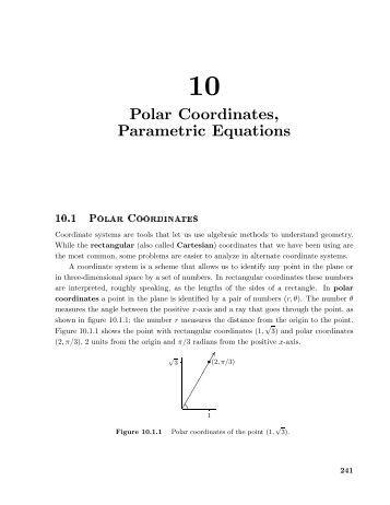 Worksheets Parametric Equations Worksheet parametric chapter 10 polar coordinates equations