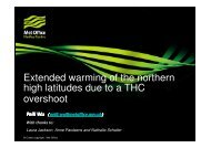 Extended warming of the northern high latitudes due to a ... - ASOF