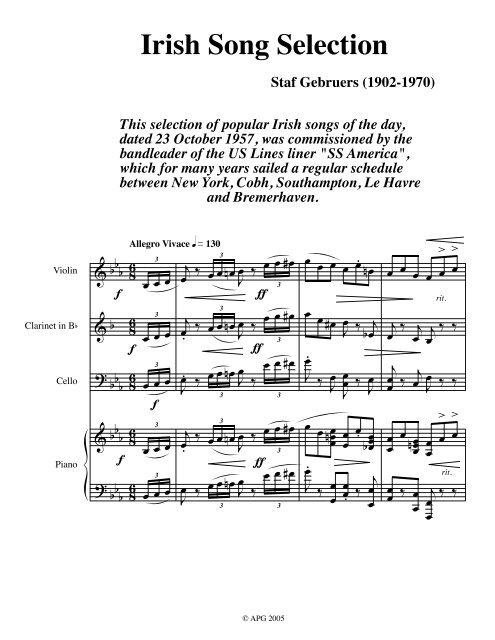 Irish Song Selection, Instrumental - Cork City Library