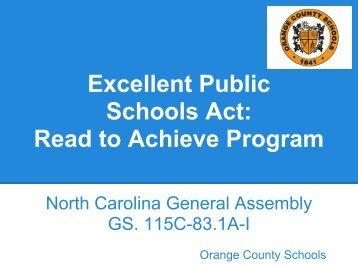 Read to Achieve Program - Orange County Schools