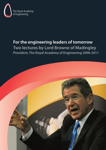 For the engineering leaders of tomorrow - Royal Academy of ...