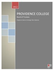 Strategic Plan Progress Report - Providence College