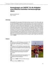 Anwendung von SAPOS ® für die Aufgaben eines Öffentlich ...