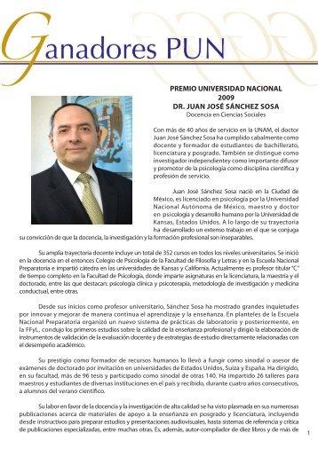 Dr.Juan José Sánchez - dgapa unam