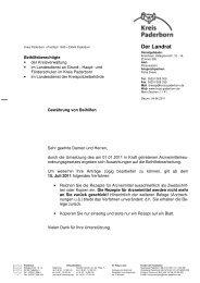 01-2011 Information der Beihilfestelle - Kreis Paderborn
