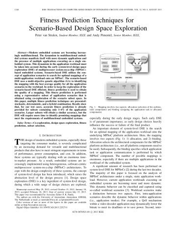 Fitness Prediction Techniques for Scenario-based Design Space ...